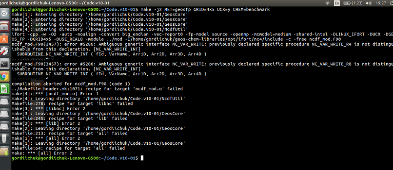 Intel Fortran Compiler - Geos-chem