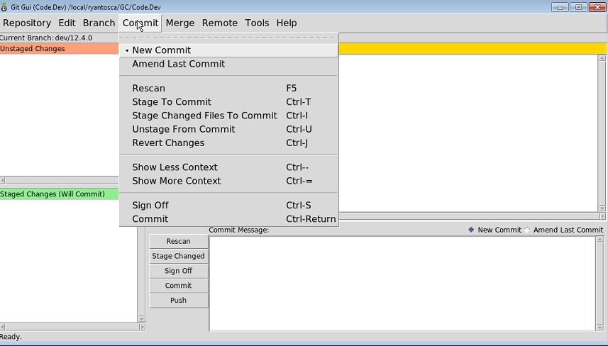 Using Git GUI - Geos-chem