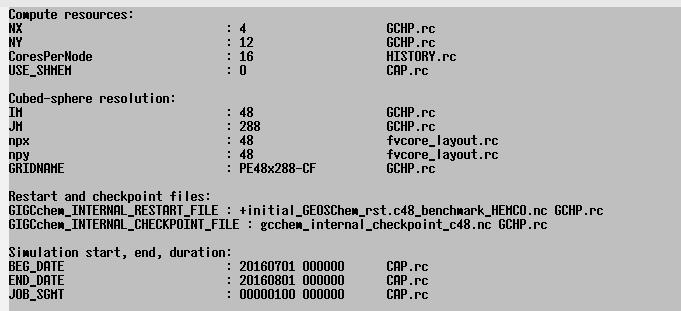 GCHP Run Configuration Files - Geos-chem